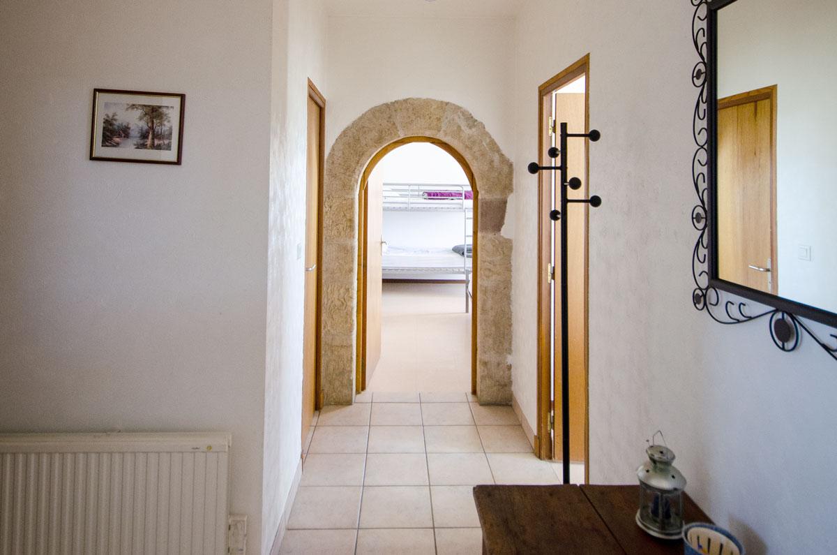 Intérieur Gîte Couloir